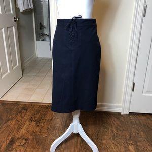 Ralph Lauren Navy pencil skirt nautical